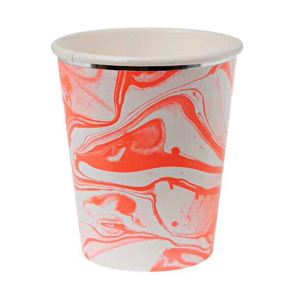 Marble Neon Orange - Cup